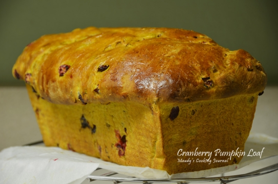 Cranberry Walnut Pumpkin Loaf